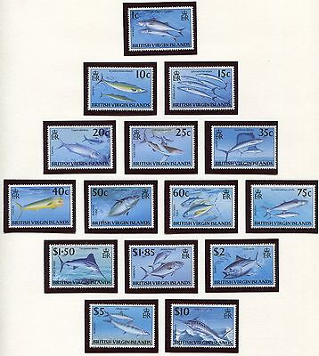 British Virgin Islands Fish Set of 15 Scott 847-61 1996, NH