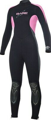 New 5/4Mm Bare Velocity Womens Full Scuba Diving Wetsuit Size 14 Pink