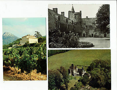 Chateaux France postcards, Chambord, Vauville, Javarzay, Treye, Angers, etc...