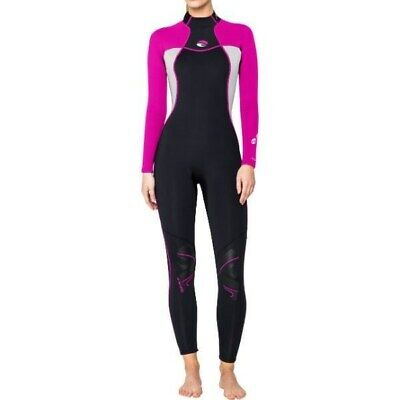 Bare 3/2mm Nixie Womens Full Stretch Scuba Diving Ladies Wetsuit Pink/Black Dive
