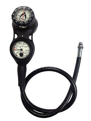 Oceanic Swiv Scuba Diving Depth Gauge Console with Pressure Gauge and Compass