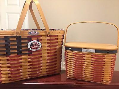 Longaberger Collectors Club 25th Anniversary Flag Basket & Whistle Stop Baskets!
