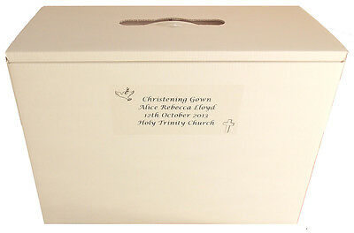 Christening Dress/Gown boxes PH Neutral Acid Free for travel & long term storage