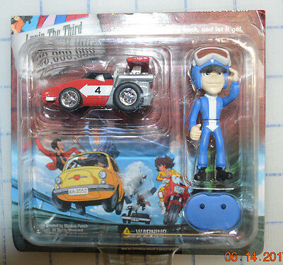 NEW Lupin the 3rd Third Limited Edition Chromo Choro Q Figure #4 race Car Set