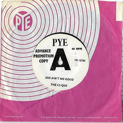The CLIQUE She Ain't No Good PYE DEMO UK 65 EX+
