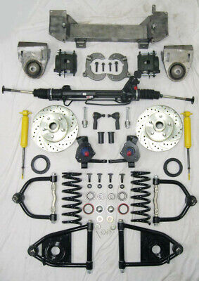 """1949 - 1954 Chevy Mustang II Bolt On Power Front End Suspension Kit IFS 2"""" Drop"""