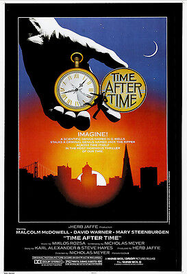 Time After Time Movie Poster Print - 1979 - Science Fiction - 1 Sheet Artwork