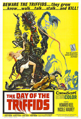 The Day Of The Triffids Movie Poster Print - 1962 - Sci-Fi - 1 Sheet Artwork