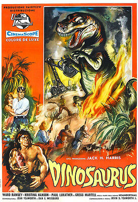 Dinosaurs Movie Poster Print - 1960 - Science Fiction - One (1) Sheet Artwork