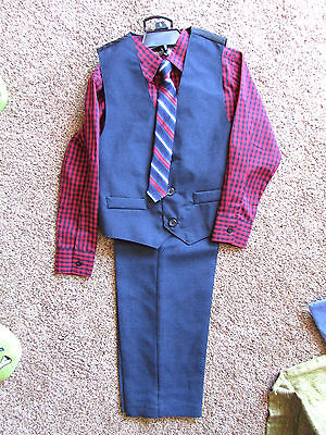NWT Holiday Editions Boys Size 5    4-Piece Suit Red/Blue