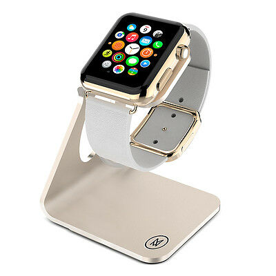 Minisuit Charging Dock Stand for Apple Watch 38 or 42mm (Horizontal Gold)