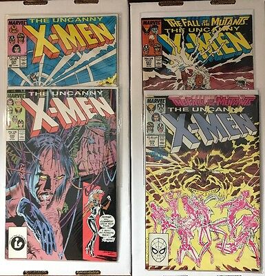 UNCANNY X-MEN 4 Book Lot - 220, 221, 226 & 227 - First Appearance of Mr Sinister