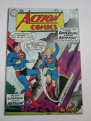 Action Comics # 252 - First App Supergirl - Coverless