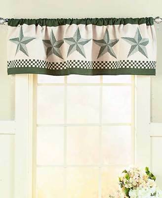 The Lakeside Collection Barn Star Window Valance -