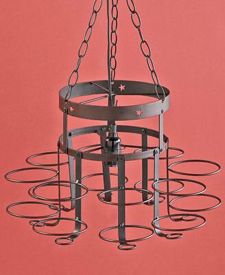 The Lakeside Collection Wrought Iron Canning Jar Chandelier