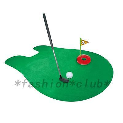 Funny Toilet Bathroom Mini Golf Mat Potty Putter Putting Game Child's Gift