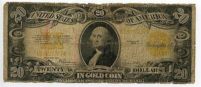 $20 Dollar Gold Certificate Speelman White Series 1922 Large Size Note AA0522