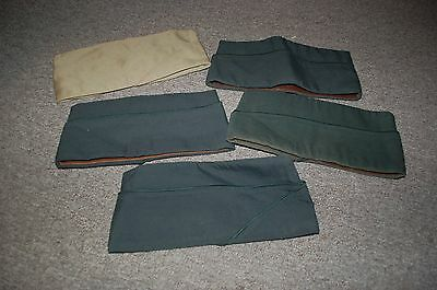 Lot of 5 Mens Garrison Cap 4 Green and 1 Kahki