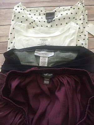 Maternity Clothes Size Medium Lot, Shorts, Skirt And Two Tops