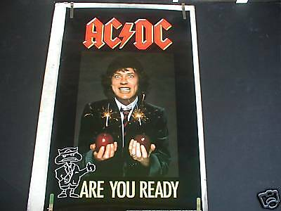Rare Ac/dc Are You Ready 1990 Vintage Music Poster