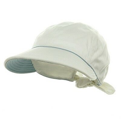 Women's Wide Brim Sun Shade Gardening Beach Visor Hat Outdoor Cap WHITE