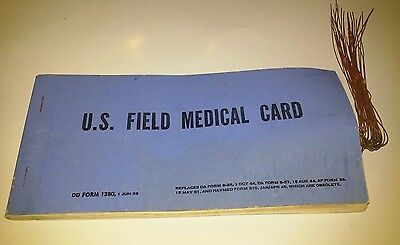 Vtg Military U.s. Field Medical Cards Complete Book 20 1962 Form 1380 'toe Tags'