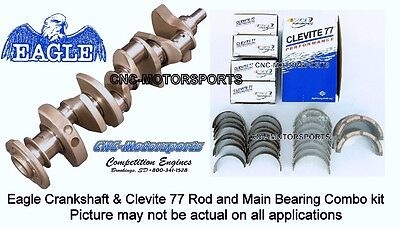 SB Ford 351W 393 Stroker Eagle Cast Steel Crankshaft with Clevite Bearings