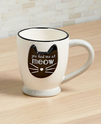 The Lakeside Collection Crazy Cat Mugs - You Had Me at Meow Mug