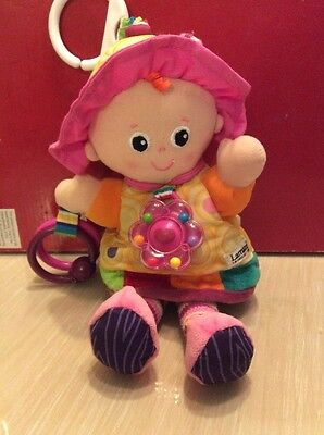 Gorgeous Baby's Toy Doll With Crinkles, A Rattle & A Teething Ring By Lamaze