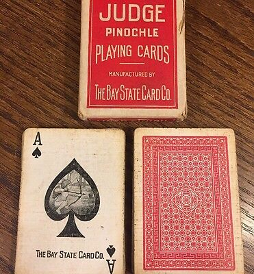 Antique Bay State Card Co Playing Cards Russell US Rare Judge Vintage Bicycle