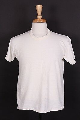 Vtg 70S Russell 100% Cotton Blank T Shirt Usa Mens Size Large