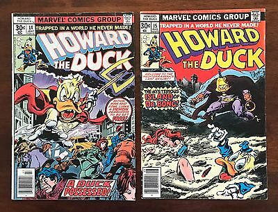 Collection Lot Of (2) Different Marvel Howard The Duck Comic Books Issue #14 15