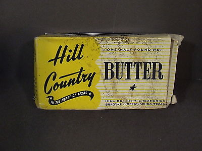 Vintage Hill Country 1/2 Pound Butter Box Advertising (Empty) • $4.97