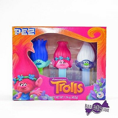 Pez Trolls Dispenser and Candy Gift Set Box (1 Gift Box) 1 Gift Box