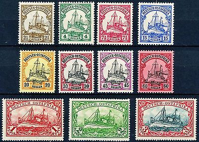 German East Africa 1905 Issues Complete Set of 11 MLH Scott's 31 to 41