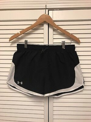 Under Armour Youth Girls Running Shorts Size XL EUC! Black Exercise Apparel