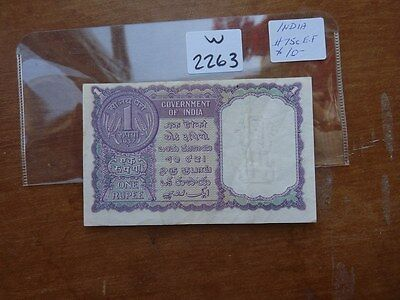 Vintage  Banknote India  5 Rupees  Cat Value 22.00     W2263
