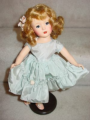 """Vintage Exquiste Light Brown Hair Hard Plastic Doll Unsigned 14"""" Tall"""