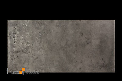 Iris Iron Matt Porcelain Floor & Wall Tile 300x600 Concrete Look