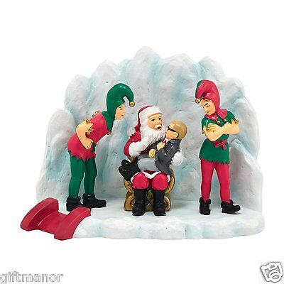Dept 56 A Christmas Story You'll Shoot Your Eye Out Kid SANTA Elves Dept Store