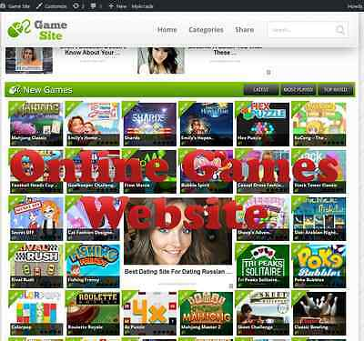 Online Game Website For Sale 100% Automated With 3 Months Free Hosting Adsense