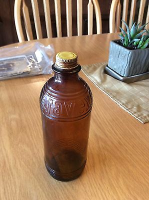 Antique Glass Javex Bottle, Dominion Glas