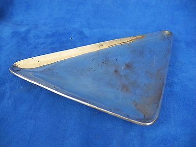 1958 Sterling Silver 925 Taxco Mexico Modernist Three Foot Triangle dish