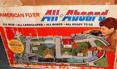 American Flyer 20188 Pioneer 600 SET All Aboard Scenic Panels + TRAIN SET, acces