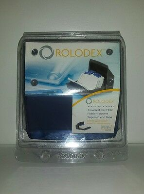 """New! Rolodex Blue """"covered Card File"""" #670 A-Z Tabs W/ 125 Address Cards"""