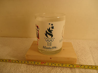 """1996 Olympic Torch Relay presented by COCA-COLA Atlanta SUMMER OLYMPICS 4"""" Glass"""