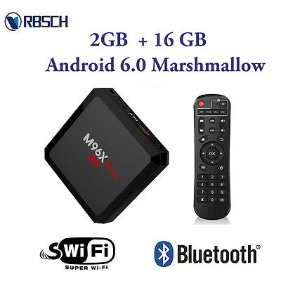 M96X Note Android 6.0 Smart TV Box Quad Core S905X WiFi 2GDDR3 16G Flash Player