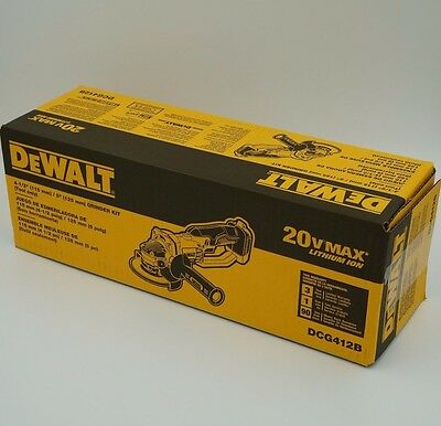 "DeWalt 20V MAX Cordless Angle Grinder DCG412B Cut Off Bare Tool 4-1/2"" BRAND NEW"