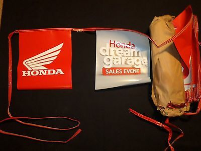 HONDA Motorcycle Dealer Advertising, 50' of FLAG PENNANT BANNER BUNTING. Unused.