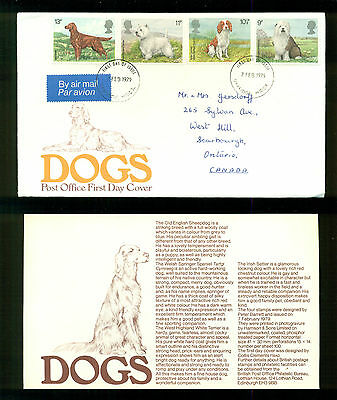 UK GREAT BRITAIN: Post Office First Day Cover DOGS 1979